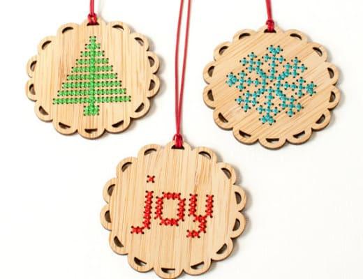 Decorazioni Natale a punto croce