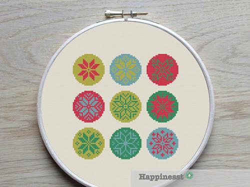 Cross stitch pattern dei fiocchi di neve