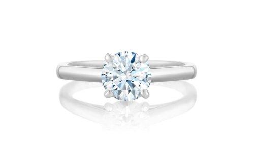 Diamante solitario De Beers classico iconico