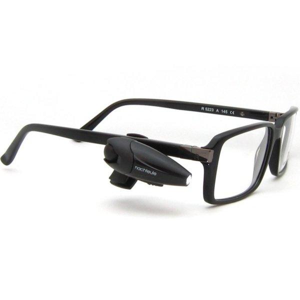 Lampada da lettura orientabile per occhiali