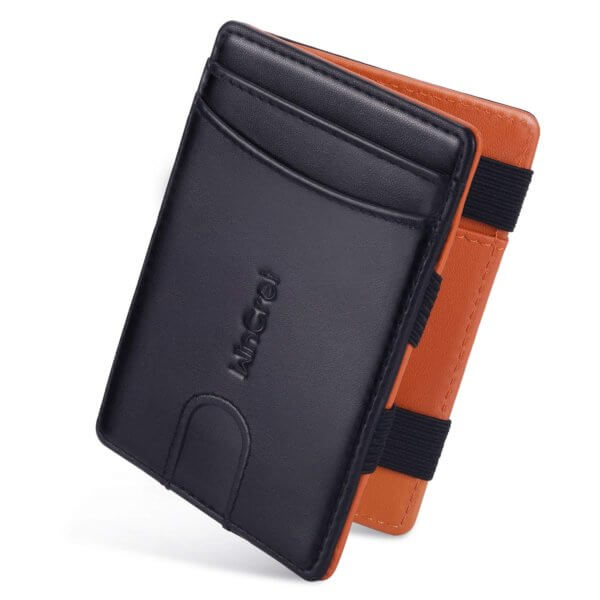 Sottile portafoglio da uomo con elastici
