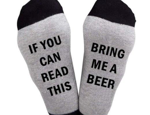 Calze uomo spiritose bring me beer