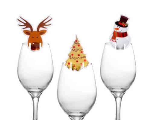 Segnabicchieri-segnaposto natalizi