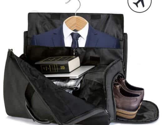 Borsone con porta abiti e tasche per accessori