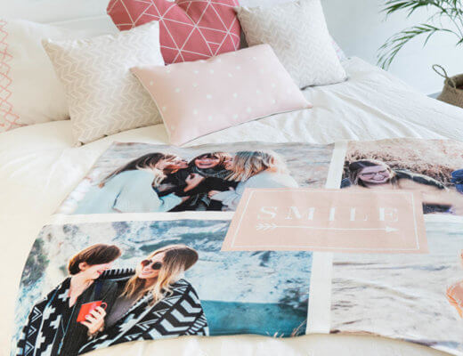 coperta pile personalizzata con foto