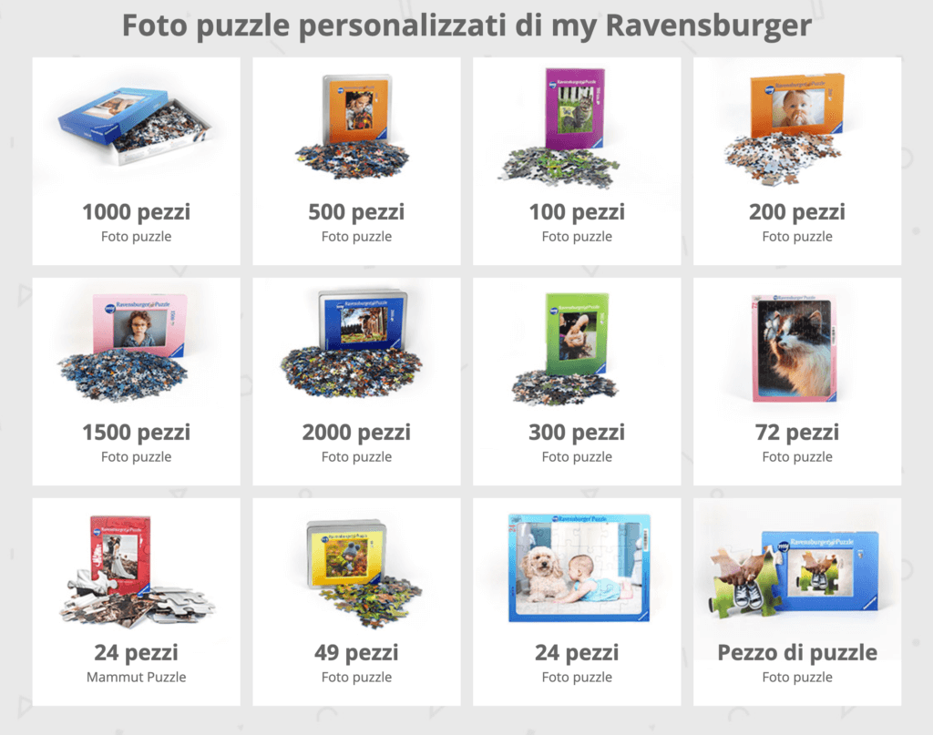 Puzzle personalizzati my Ravensburger