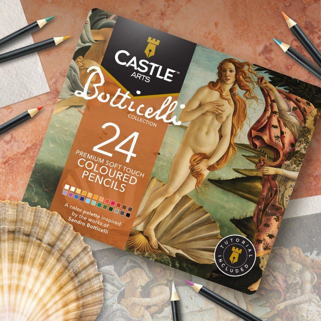 Set di 24 matite colorate Botticelli